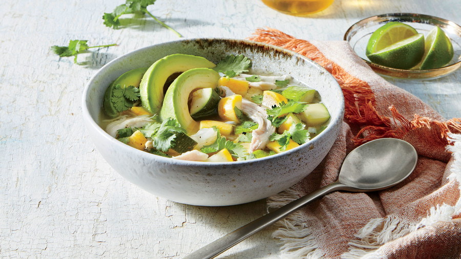 Smoked Chicken, Squash, and Rice Soup Recipe