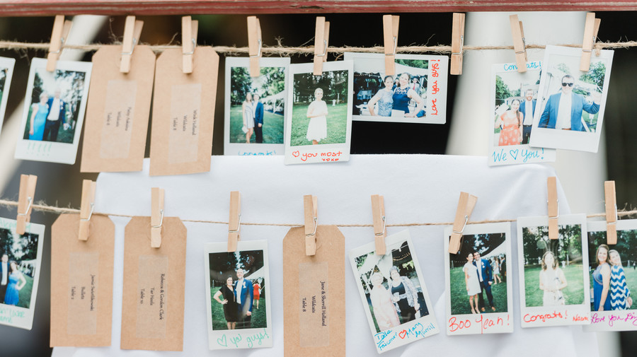 Wedding Polaroid Display