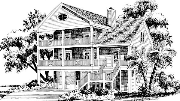 RX_1709_Best House Plans for Beach Vacation Homes_Rosemary Cottage