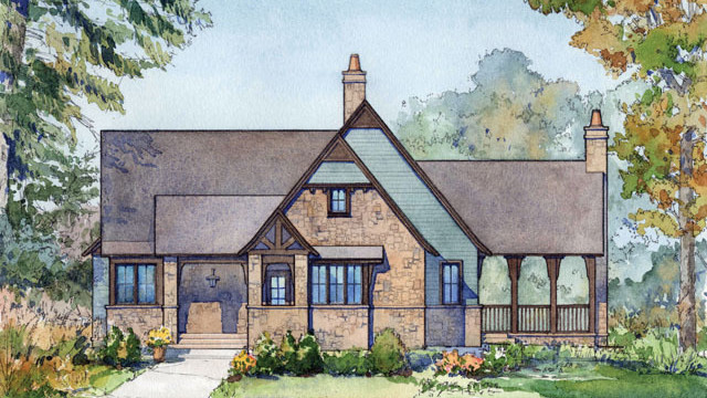 RX_1909_Small House Plans Updated_Rustic Lake Cabin, Plan #1809
