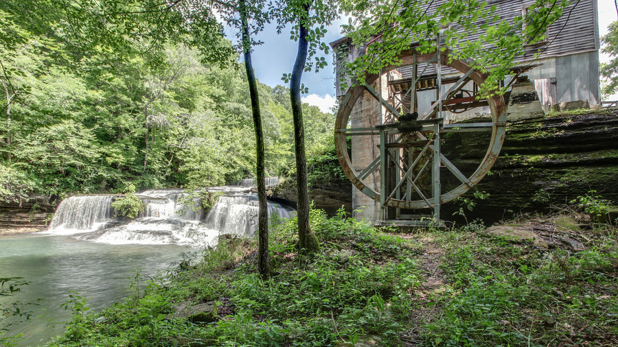 Wide Shot of Gristmill