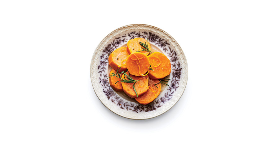 Candied Yams with Rosemary and Orange Zest