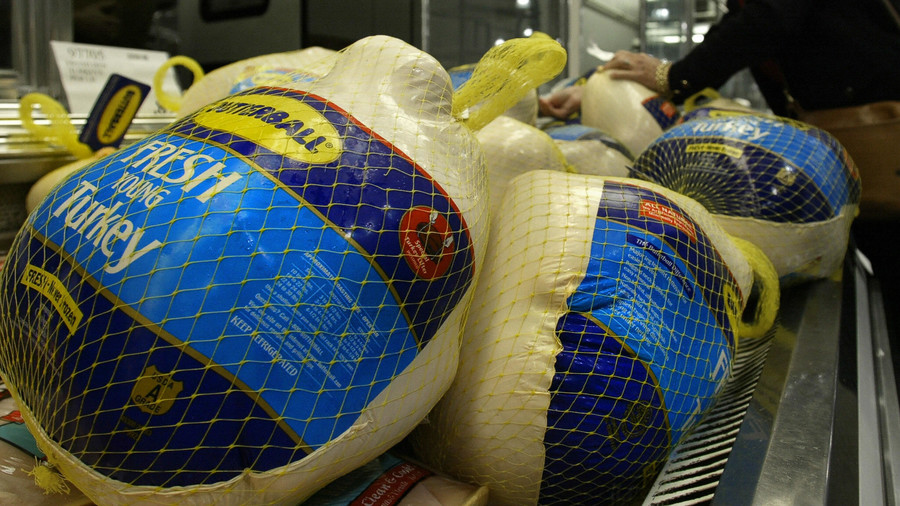Butterball Turkeys in the Grocery Store