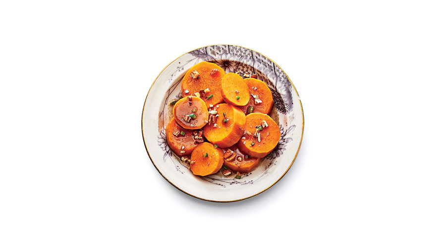 Spicy Candied Yams with Toasted Pecans