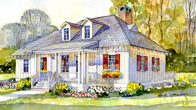 The best southern living house plans under 2 000 square for Southern cottage house plans with photos
