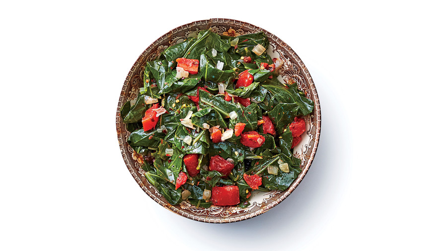 Vegetarian Slow-Cooker Collard Greens