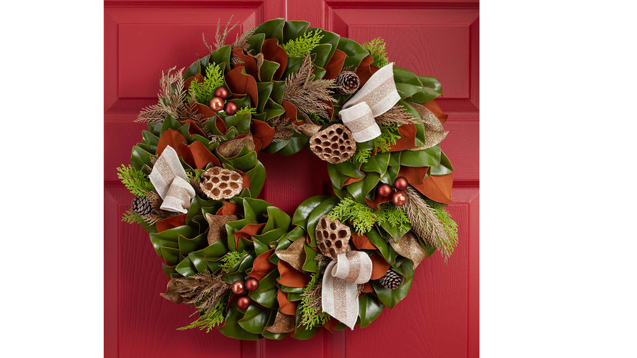 Southern Living Magnolia Holiday Wreath