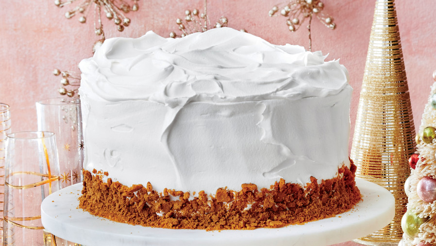 December- Gingerbread Latte Cake with Vanilla Whipped Cream Frosting