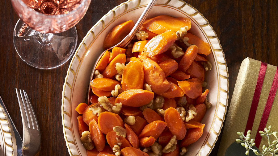 Cider-Glazed Carrots with Walnuts Recipe