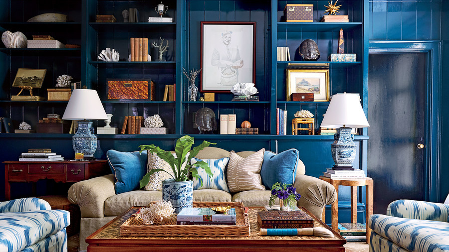 Allison Allen Blue Study/Living Room