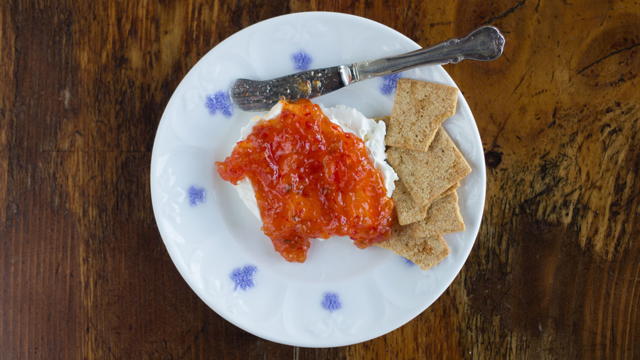 Cream Cheese and Red Pepper Jelly