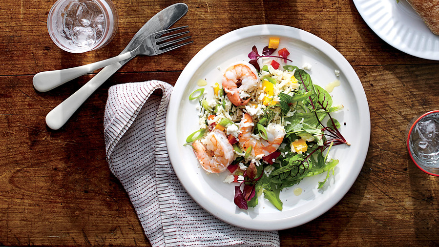 Herbed Shrimp-and-Rice Salad