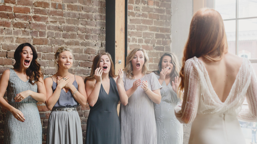 Bridesmaid React to Bride