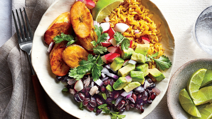 Cuban Black Bean-and-Yellow Rice Bowls