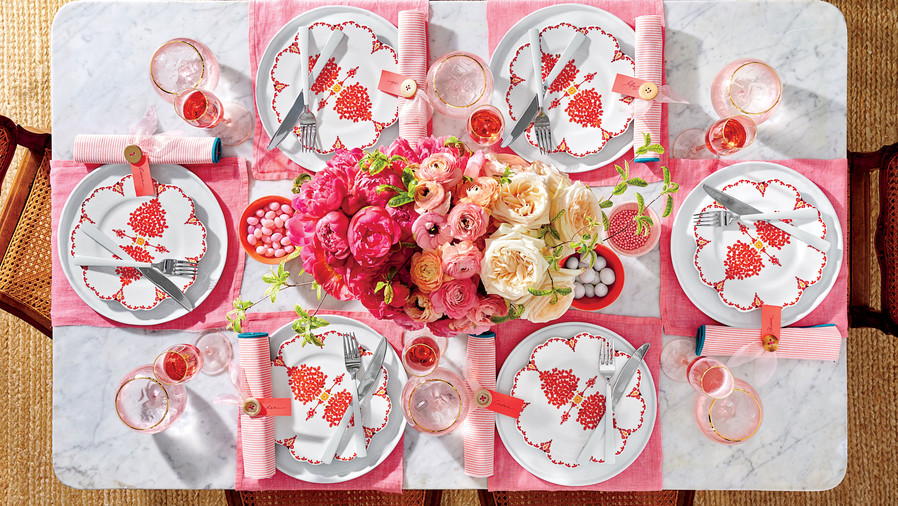 Pink Peony Table
