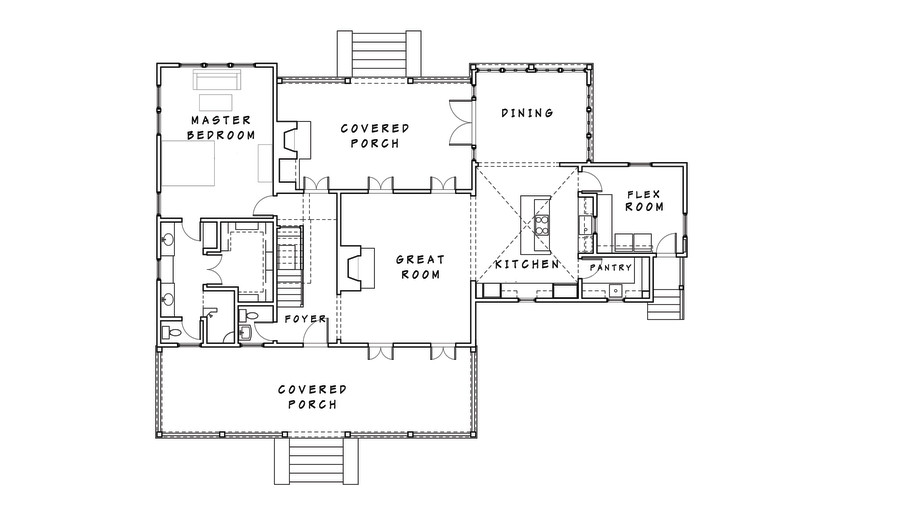 Do You Like Open Floor Plans Part - 19: New Vintage Lowcountry Floor Plan