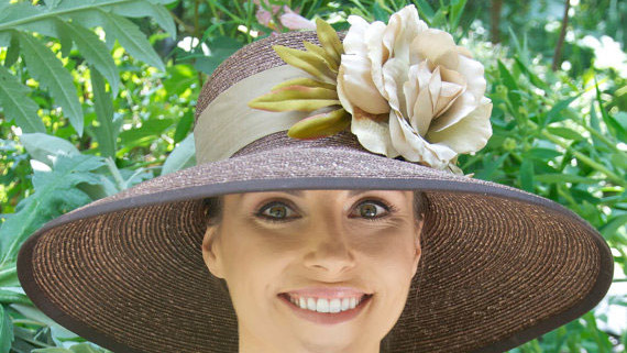 Warm Natural Wide-Brim Hat