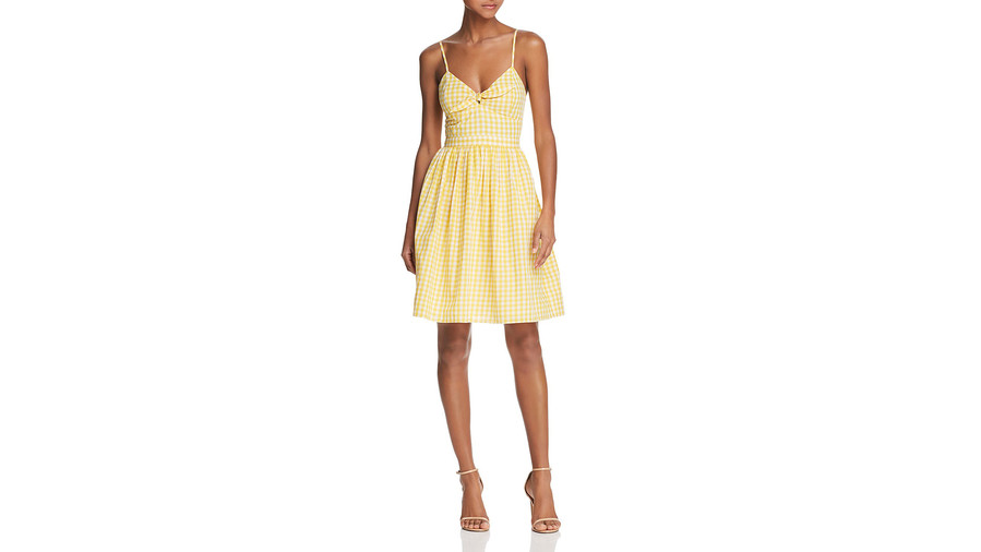 yellow-gingham-fit-flare