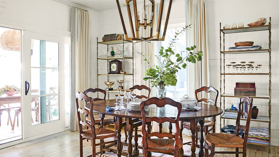 Ginny Stimpson's Bay House in Fairhope, AL Open Concept Dining Room