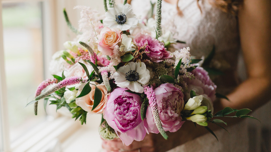 Bright Springtime Wedding Bouquet