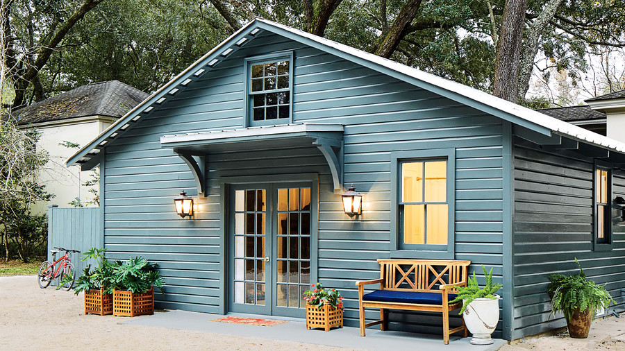 Ginny Stimpson Fairhope, AL Guesthouse Garage Makeover