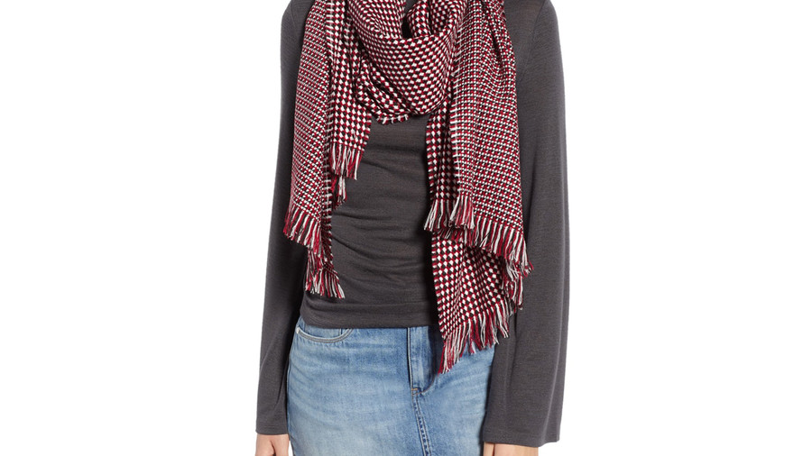For Your Best Friends: Waffle Grid Oblong Scarf