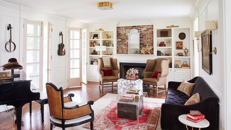 Holly Williams Colonial Revival Remodel in Nashville, TN Living Room