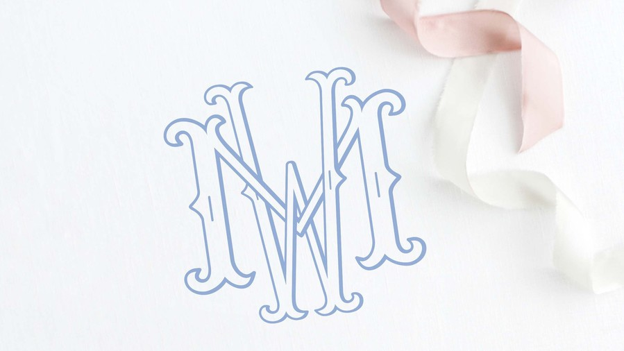 Lovely and Interlocked Wedding Monogram