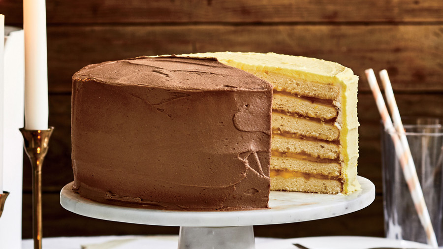 Lemon-and-Chocolate Doberge Cake