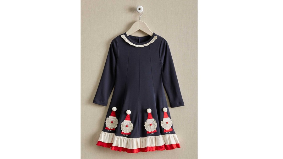 Girls Crochet Santa Dress