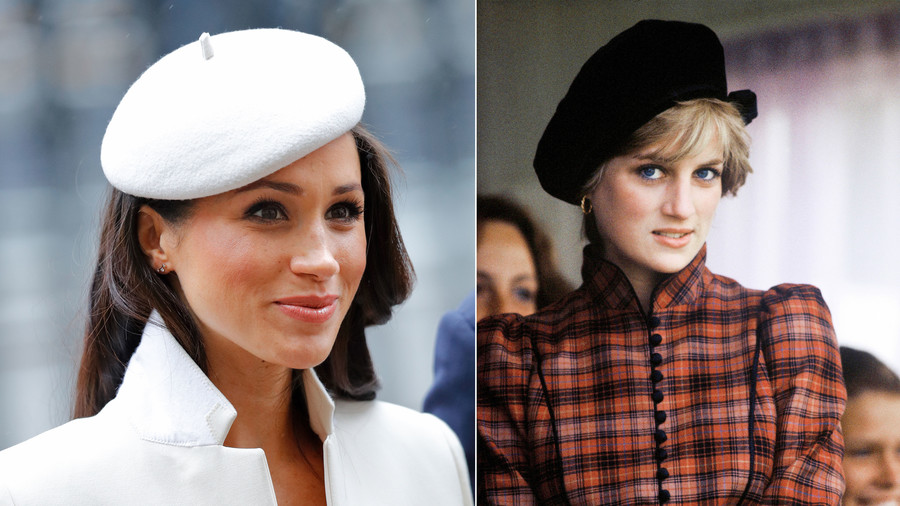Princess Diana and Meghan Markle Wearing Berets