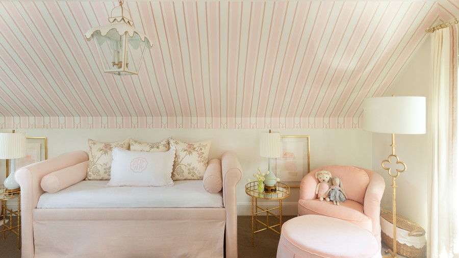 Pink Striped Nursery Day Bed