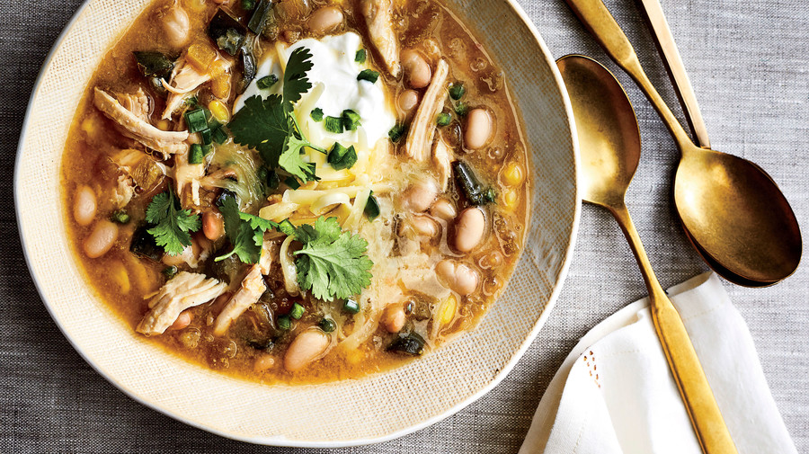 Slow-Cooker White Chili with Turkey