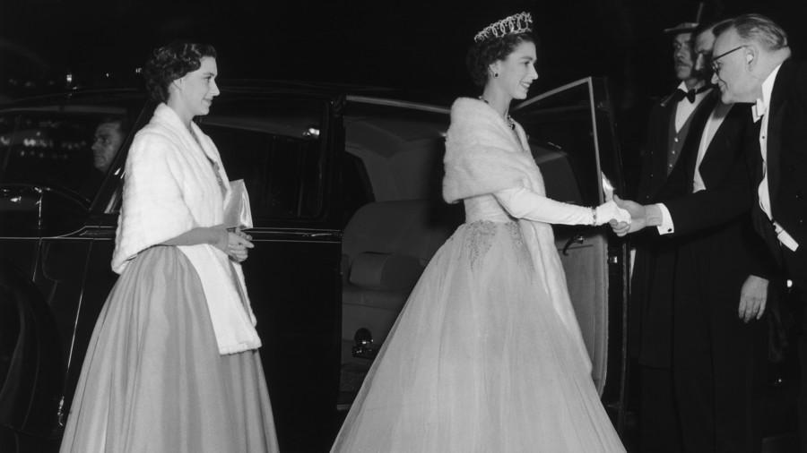 Queen Elizabeth and Princess Margaret