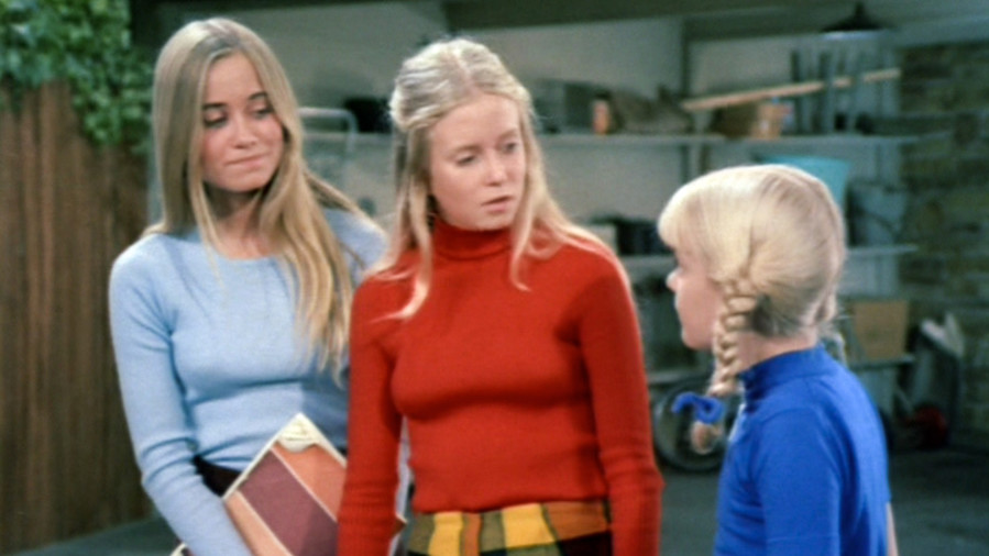 Marcia, Jan, and Cindy Brady From The Brady Bunch