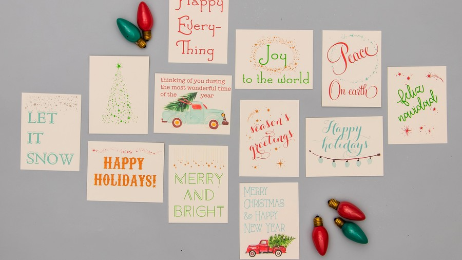 RX_1810 Etsy Christmas Cards_Homemade Variety Pack