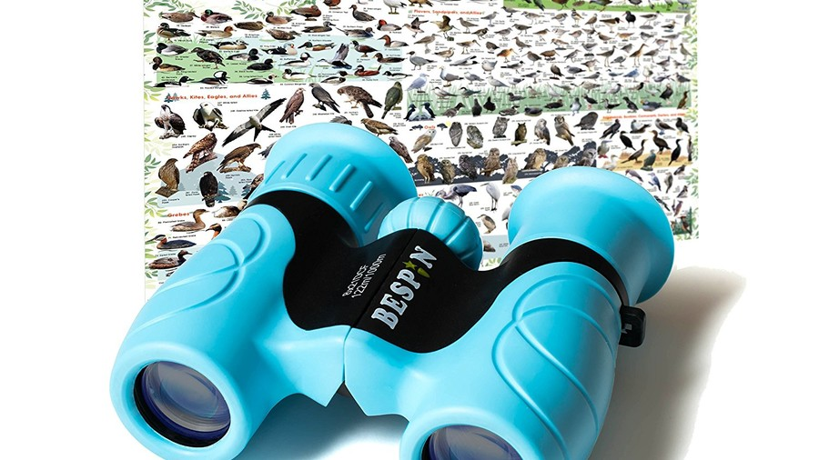 Binoculars for Kids with Reversible Bird Map