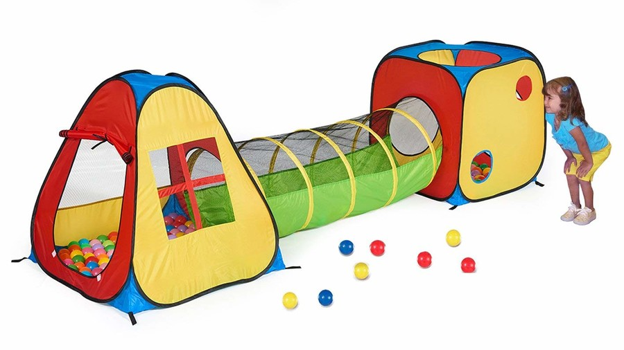 Pop Up Play Tent with Tunnel and Ball Pit