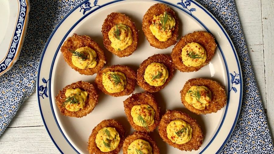 Fried Deviled Eggs