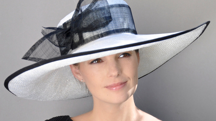 Black and White Lampshade Hat