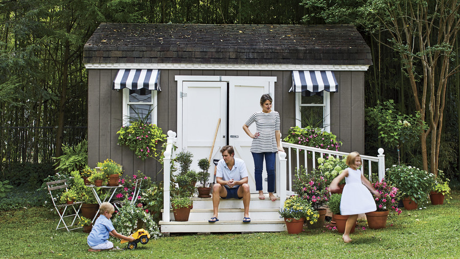 Whitney McGregor's Greenville, SC Home Garden Shed