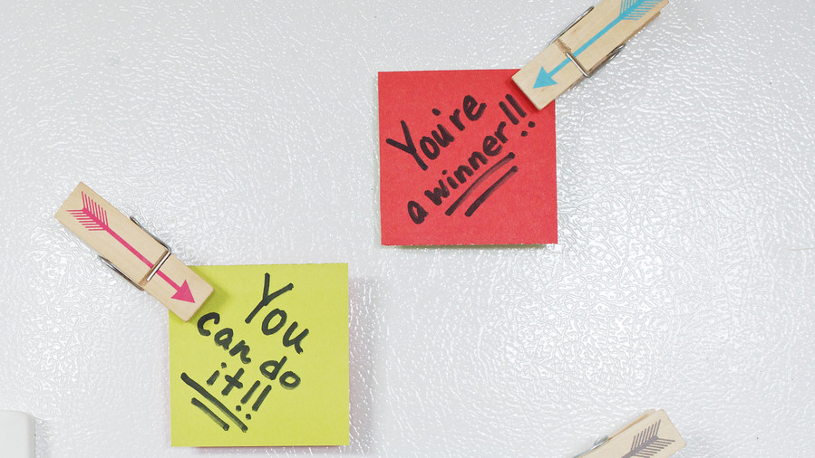 encouraging Post it notes