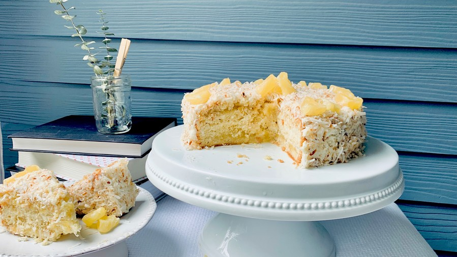 Pineapple Coconut Cake