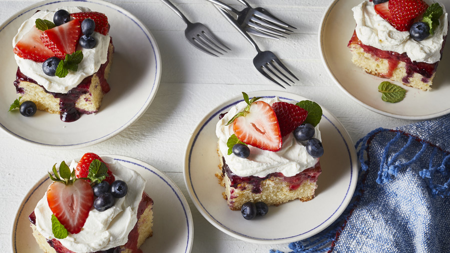 Red, White, and Blue Poke Cake