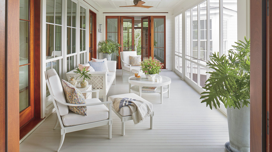 Jenny Keenan Designed Screened in Porch for her parents in Mount Pleasant, SC