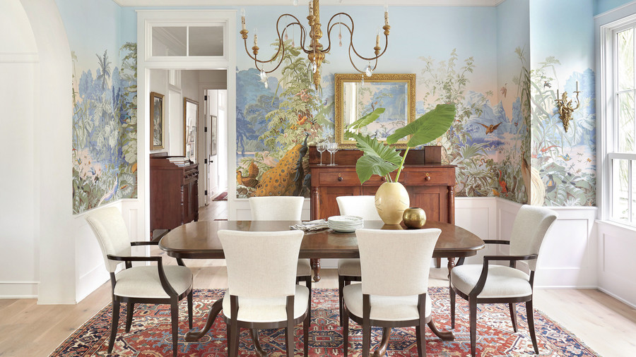 Jenny Keenan Designed Dining Room for Her Parents Home in Mount Pleasant, SC