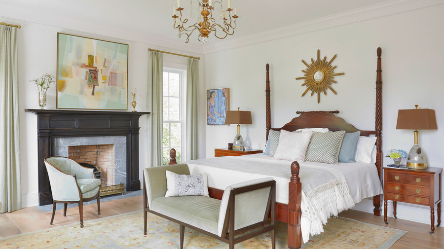 Jenny Keenan Designed Bedroom for her Parents Home in Mount Pleasant, SC
