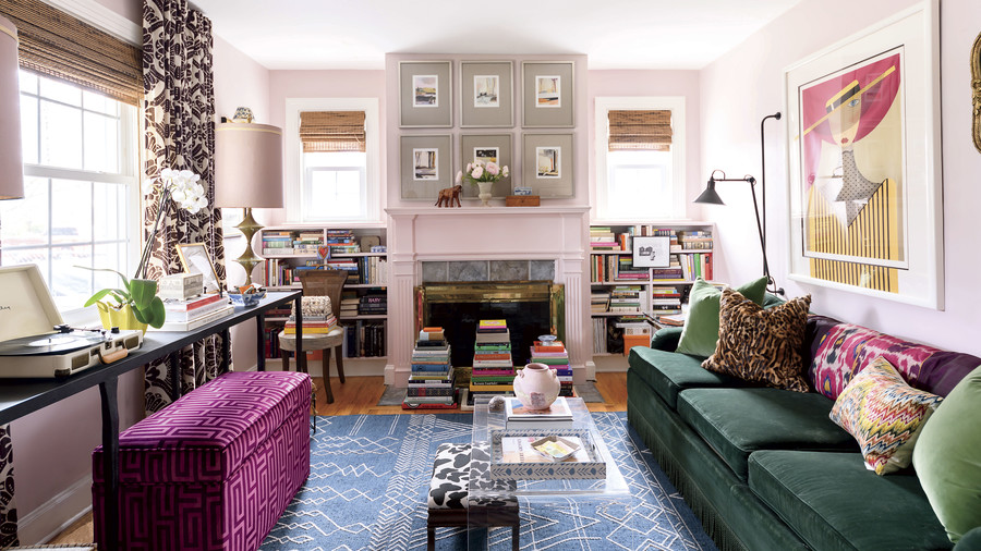Brittney Forrister Pink Living Room in Her Nashville, TN Cottage
