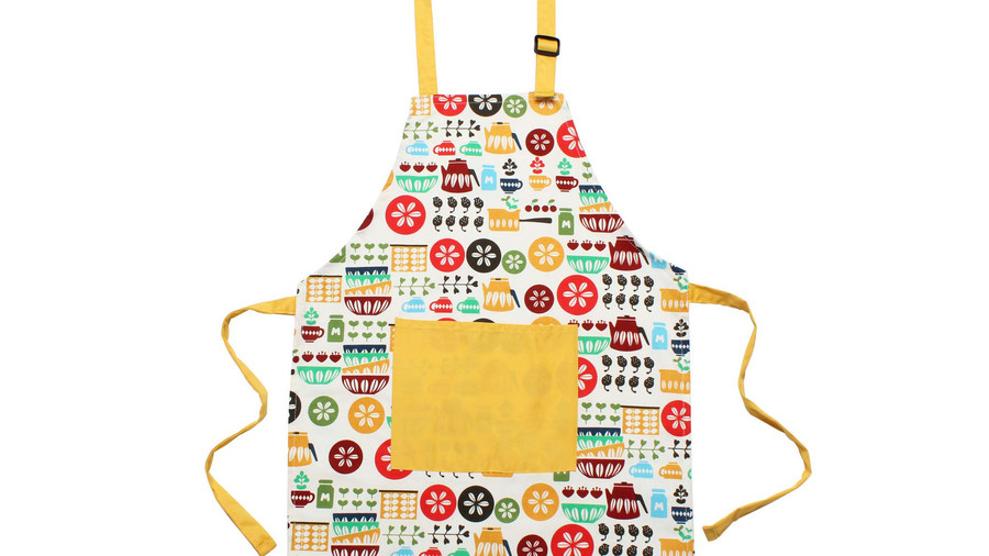 Kids Apron with Front Pocket and Adjustable Neck Strap