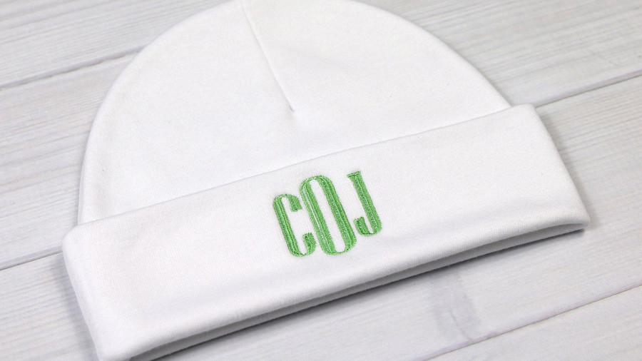 RX_1906 Monogrammed Baby Gifts_Monogrammed Baby Hat